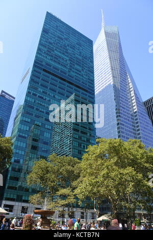 Bank of America Tower, One Bryant Park, New York - Stock Photo
