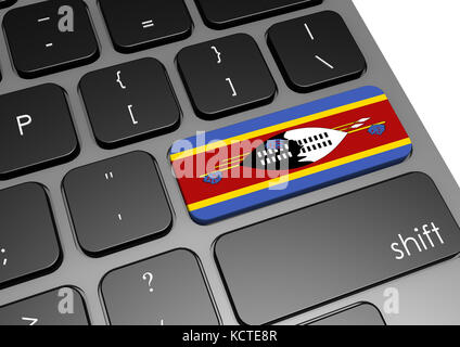 Swaziland keyboard image with hi-res rendered artwork that could be used for any graphic design. - Stock Photo