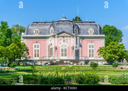 Schloss Benrath viewed from the French Garden in Düsseldorf, Germany - Stock Photo