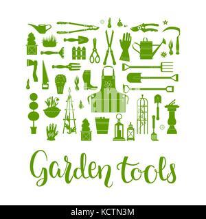 Garden tools set - Stock Photo