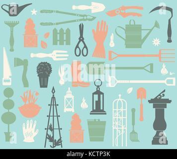 Gardening tool set - Stock Photo