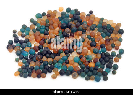 Silica gel over white background - Stock Photo