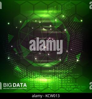 Big data visualization. Futuristic, Information aesthetic design. - Stock Photo