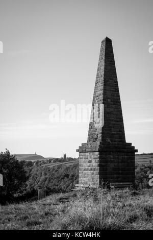 Heptonstall Church And Stoodley Pike Near Hebden Bridge In