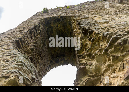 Knepp castle remains at Shipley off the 264 by pass to worthing. Built in 1125 by Robert de Harcourt le Fort (the - Stock Photo