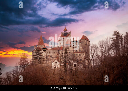 Bran Castle, Transylvania, Romania, known as 'Dracula's Castle'. - Stock Photo