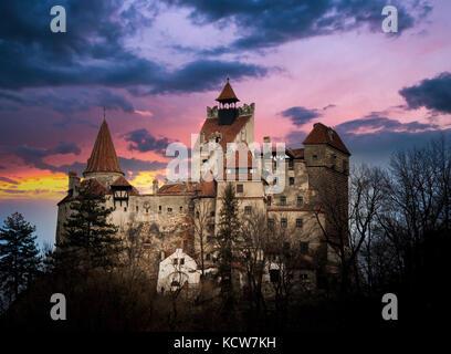 Bran Castle, Transylvania, Romania, known as 'Dracula's Castle'. - Stock Photo