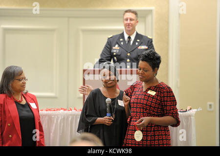 Survivor Outreach Services remembering the fallen Christmas event in Columbia, S.C., Dec. 10, 2016.  Family members - Stock Photo
