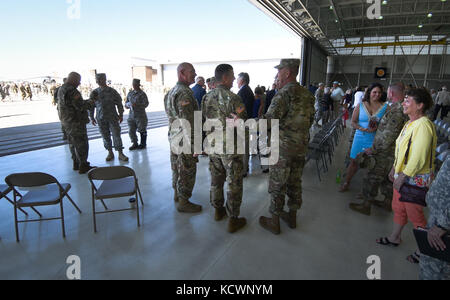 South Carolina Army National Guard Soldiers with 59th Aviation Troop Command participate in a change of command - Stock Photo