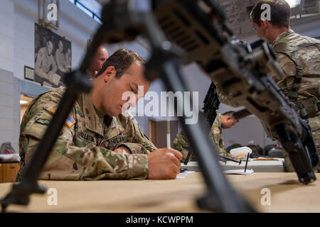 U.S. Army Sgt. 1st Class Chad Gleaton, Alpha Co., 1st Battalion, 118th Infantry Regiment, 218th Maneuver Enhancement - Stock Photo