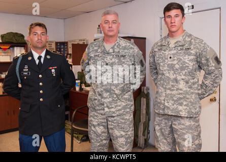 U.S. Army Command Sgt. Maj. Edward Guest, 1st Battalion, 118th Infantry Regiment, 218th Maneuver Enhancement Brigade, - Stock Photo