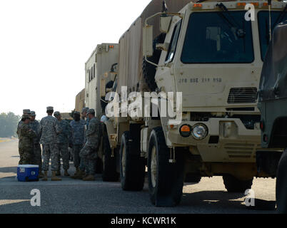 Members of the 218th Brigade Support Battalion, South Carolina National Guard, partnered with the U.S. Army Reserve - Stock Photo