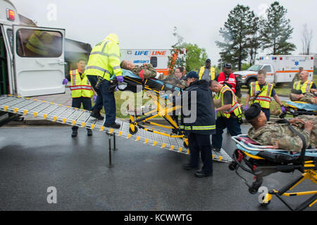 First responder from multiple hospitals, fire departments and law enforcement agencies from around the Columbia, - Stock Photo