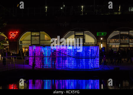 6th Oct 2017, Leeds Night Light, a magical celebration of light and colour, this the 13th year of Light Night Leeds.