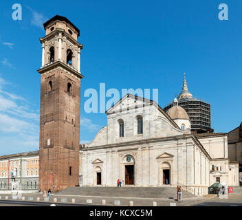 Turin Cathedral (Duomo di Torino), home to the Turin Shroud, Turin, Piedmont, Italy - Stock Photo