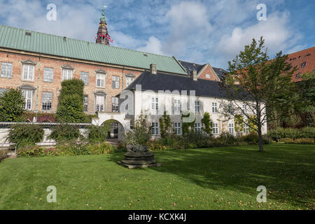 COPENHAGEN, DENMARK - OCT 03, 2017: View to The Royal Arsenal Museum and the Danish National Archives from Royal - Stock Photo