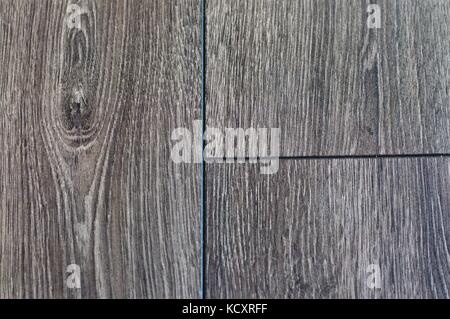 Grey wood grain floorboards - Stock Photo