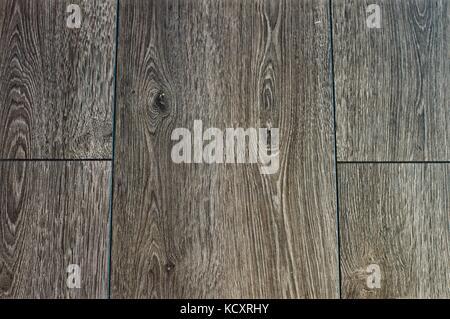Grey wood grain floorboards - Stock Photo