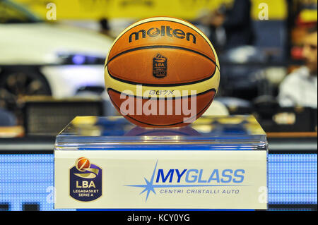 Turin, Italy. 7th October, 2017. ball the match during the CAMPIONATO BASKET SERIE A 2017/18 basketball match between - Stock Photo