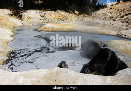 Scenic wonders of Lassen Volcanic National Park in California - Stock Photo