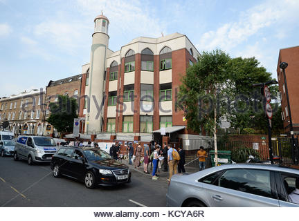 Embargoed to 0001 Monday October 9 File photo dated 20/07/17 of Finsbury Park Mosque in north London where a terror - Stock Photo