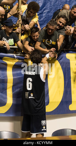 Turin, Italy. 07th Oct, 2017. Turin, Italy 7th october 2017. Aleksandar Vuja?i? during the Serie A Basketball match - Stock Photo