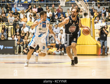 Turin, Italy. 07th Oct, 2017. Turin, Italy 7th october 2017. Giuseppe Poeta during the Serie A an Basketball match - Stock Photo