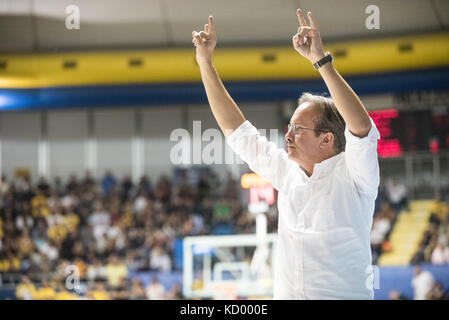 Turin, Italy. 07th Oct, 2017. Turin, Italy 7th october 2017. Federico Pasquini during the Serie A an Basketball - Stock Photo