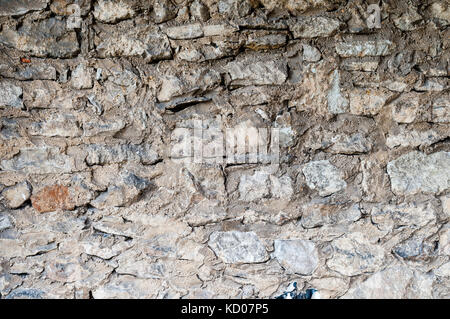 Old white stone wall background texture - Stock Photo
