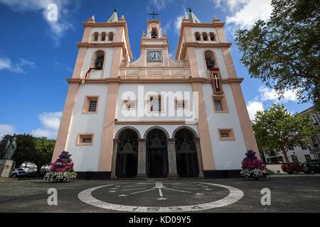 Cathedral, Cathedral, Cathedral, Se Catedral, Igreja de Santissimo Salvador da Se, Angra do Heroismo, UNESCO World - Stock Photo