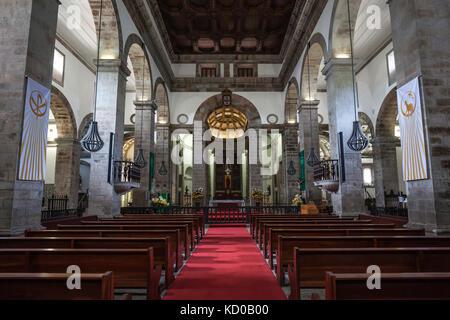 Cathedral, Cathedral, Cathedral, Se Catedral, Igreja de Santissimo Salvador da Se, interior view, Angra do Heroismo - Stock Photo