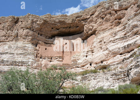 Montezuma Castle - Native American Cliff Dwelling Ruins - Stock Photo