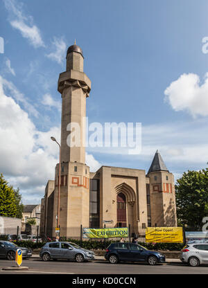 Exterior, Edinburgh Central Mosque (designed by Dr Basil Al Bayati, opened 1998)  Potterrow, Southside, Edinburgh, - Stock Photo