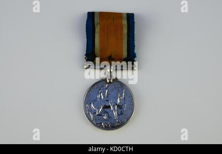 WW1 British War Medal - Stock Photo