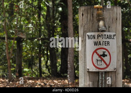 Bowling Green Bay National Park (Alligator Creek), Townsville, QLD, Australia - Stock Photo