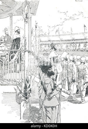 Proclamation of Queen Victoria as Empress of India, 1 January 1877, New Year's Day, Delhi - Stock Photo