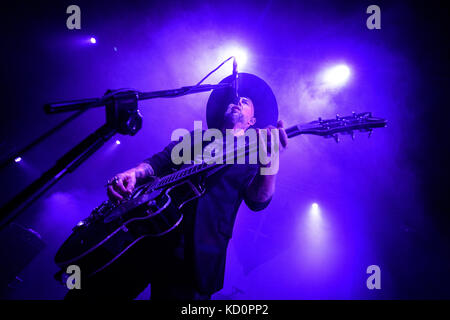 Lodz, Poland. 07th Oct, 2017. Me And That Man colaboration Nergal, John Porter, Matteo Bassoli and Lukas Kumanski - Stock Photo