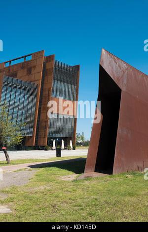 The exterior of the European Solidarity Centre, Gdansk, Poland. - Stock Photo