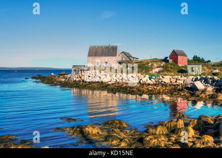Middle Point Cove, Nova Scotia, Canada - Stock Photo