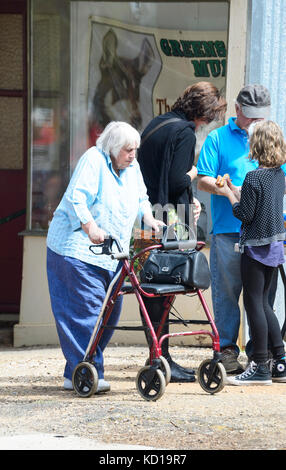 A walker (walking frame) disabled elderly people house Stock Photo ...
