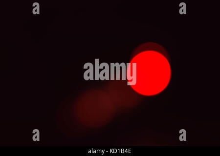 Beautiful red of bokeh with black background. - Stock Photo