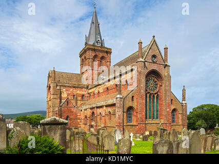 St. Magnus Cathedral, Kirkwall, Orkney Mainland, Scotland, UK. - Stock Photo