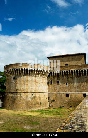 Fortress of Rocca Roveresca located in Senigallia in the Marche region in the province of Ancona. For travel and - Stock Photo