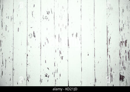 Old white wooden planks. - Stock Photo
