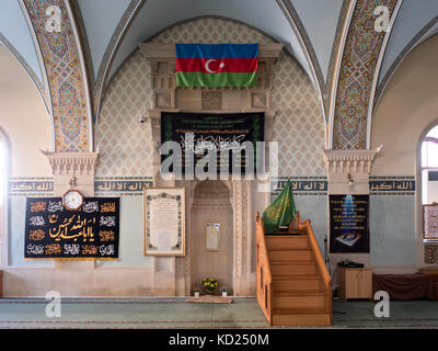 Interior of Juma Mosque ( aka Friday Mosque ) in the historic Old Town of Baku, Azerbaijan - Stock Photo
