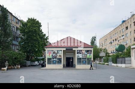 Residential district in the suburbs of Baku, Azerbaijan - Stock Photo