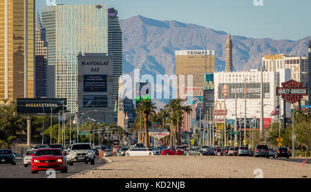 Las Vegas, NV, USA. 9th Oct, 2017. Signage on the Las vegas Strip around Mandalay Bay resort one week after the - Stock Photo