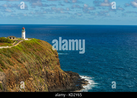 Kilauea Point Lighthouse on Kauai - Stock Photo