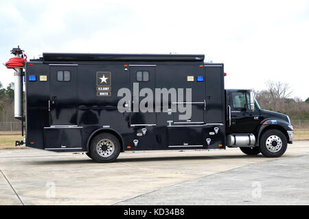 """Static photo of U.S. Army North Task Force 51 radio communications vehicle, """"The Sentinel,"""" taken March - Stock Photo"""