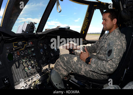 U.S. Army 1st Lt. T.J. Rose, a pilot with the South Carolina Army National Guard's 2-238th General Support Aviation - Stock Photo